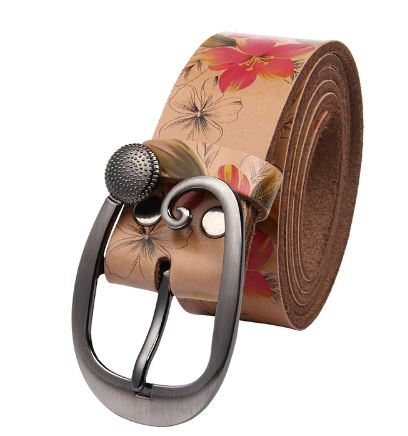 Women's Floral Printed Belt
