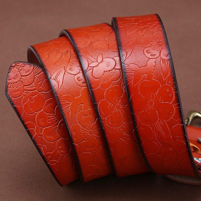 Women's Vintage Floral Carved Belt