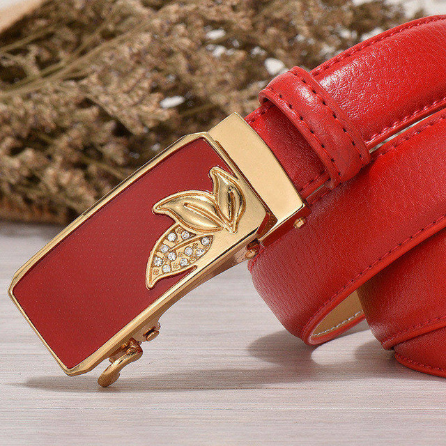 Elegant Genuine Leather Women's Belt