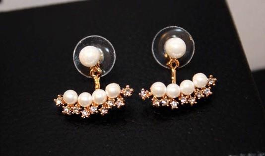Women's Pearl Double-Sided Earrings