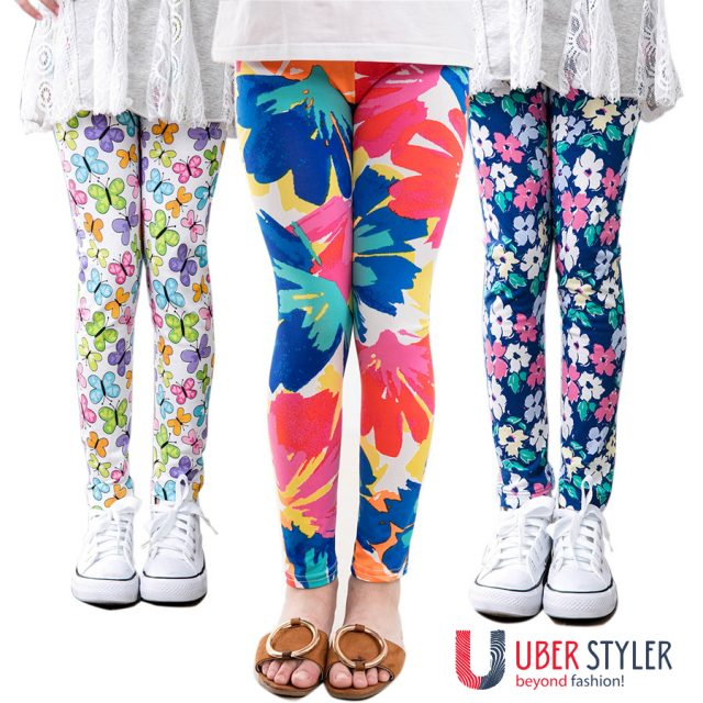 Stylish Girls Pants/Leggings/ Flower Prints