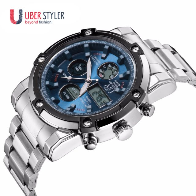 Mens' Sport Digital Watch 50m Waterproof