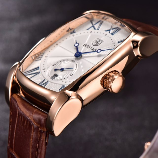 Luxury Quartz Leather Mens Watch
