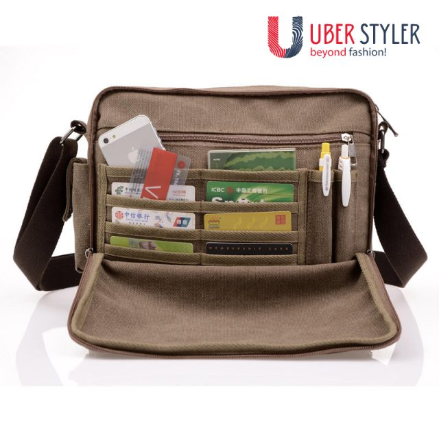 Multifunction Mens Casual Canvas Bag