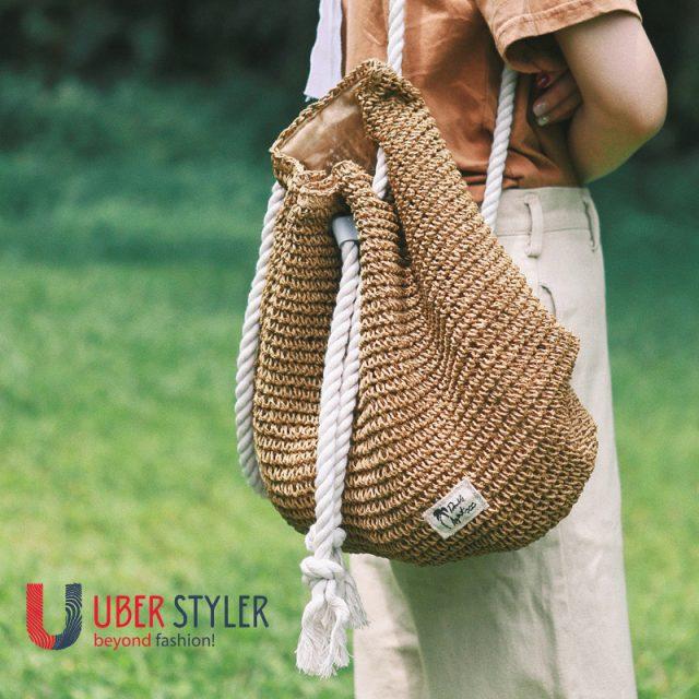 Straw Weaved Bagpack for girls