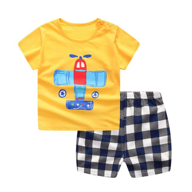 Baby's Summer Cotton Clothing Set