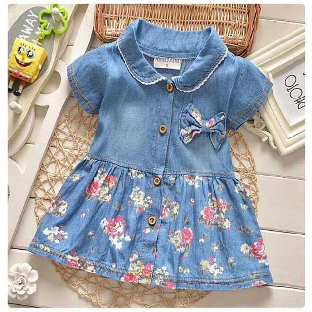 Lovely Summer Floral Cotton Baby Girl's Dress