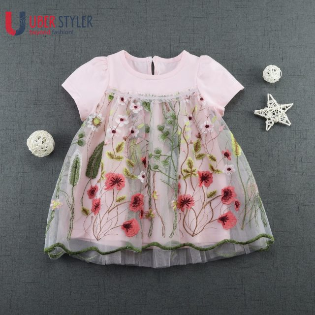 Girl's Field Flowers Embroidery Dress