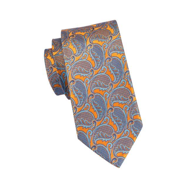 Silk Men's Tie with Paisley Print