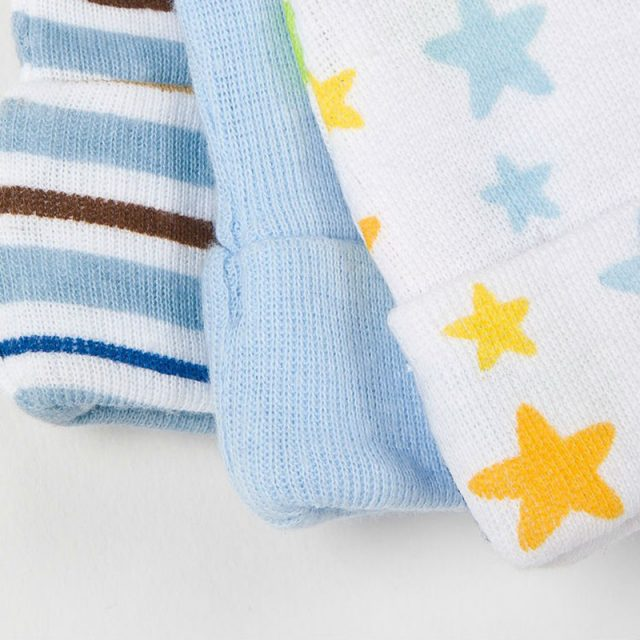 Cute Stars Printed Cotton Caps for Babies