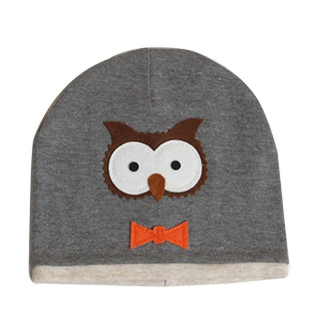 Kids Soft Hat with Cartoon Owl