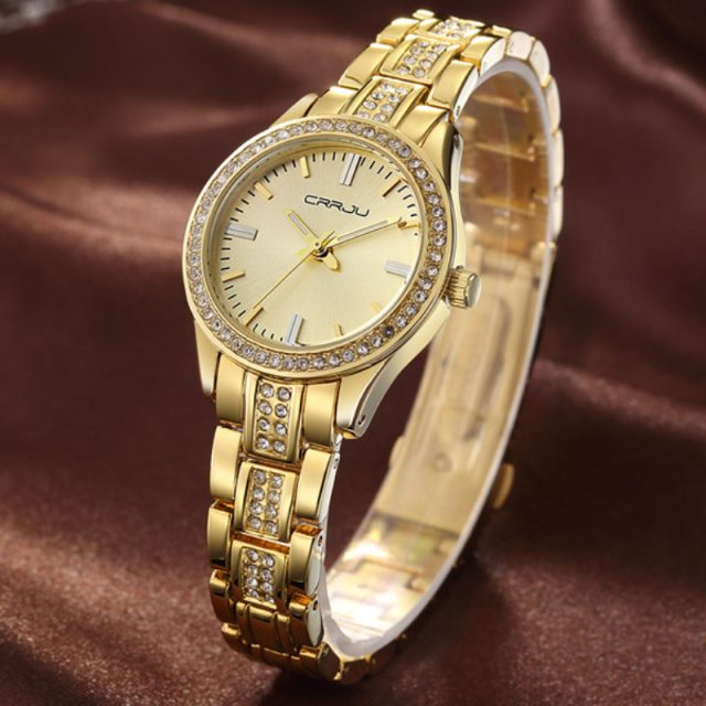 Women's Steel and Crystal Watch
