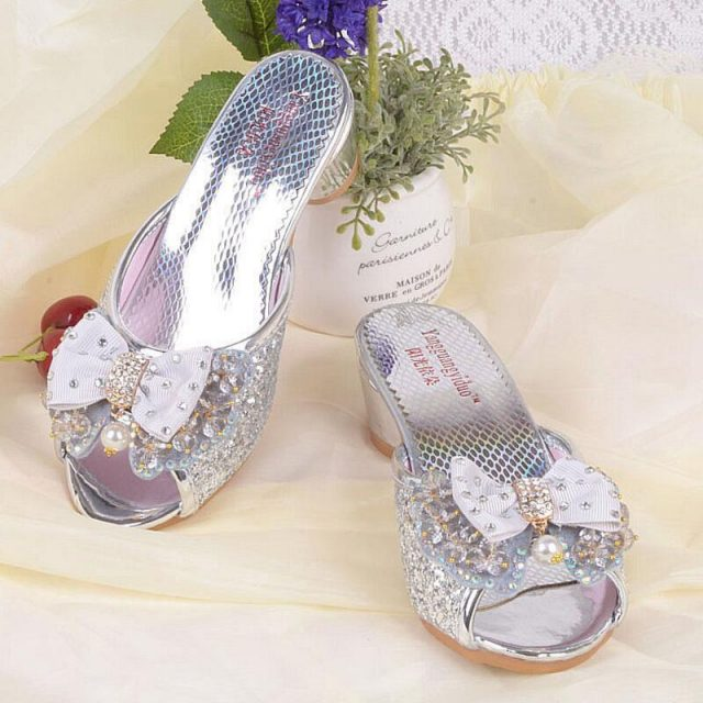 Girl's Sequined Princess Sandals